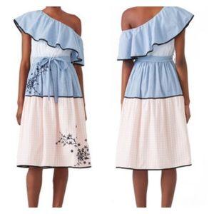 Hemant & Nandita Melantha Gingham Ruffle Dress